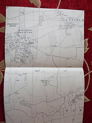 English Aviation History, map cuts of AIRFIELDS  KINGSTON BAGPUIZE