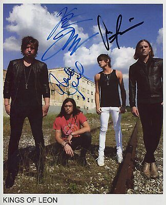 "Kings Of Leon FULLY  Signed Autographed 8x10"" Photo"