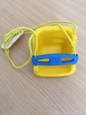 Little Tikes Toy Swing For Dolls House In Yellow