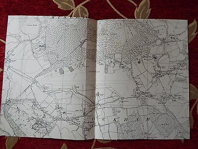 English Aviation History, map cuts of AIRFIELDS  WISLEY