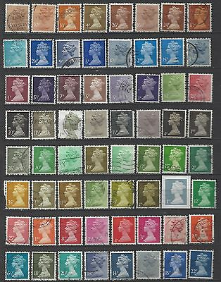 British stamps machin stamps mixed machin collection selection all different gb