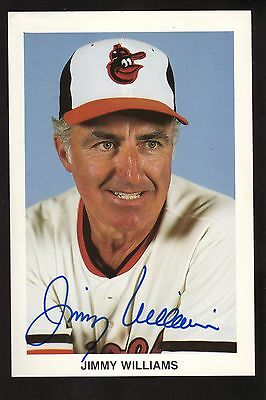 Jimmy Williams (1926-2016) Autographed Postcard--Baltimore Orioles