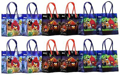 New Arrival Angry Birds 12 Small Reusable Goodie Gift Bags for Parties