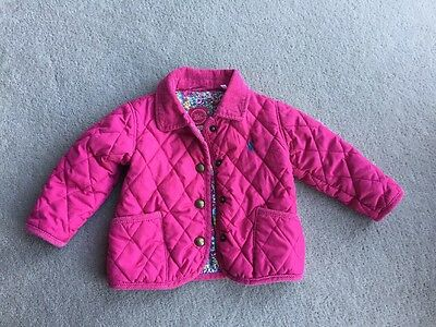 Joules Girls Baby Mabel Hot Pink Jacket Age 6-9 Months