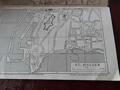 50s era POST WW2  SECTIONAL MAP OF JERSEY   big changes here   ideal as gift