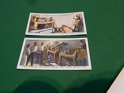 early 20th century churchmans trade card  HOWARD CARTER Tutankhamun  // A PAIR