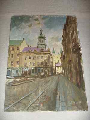 EASTERN EUROPEAN PAINTING ukranian russian ? accomplished work signed