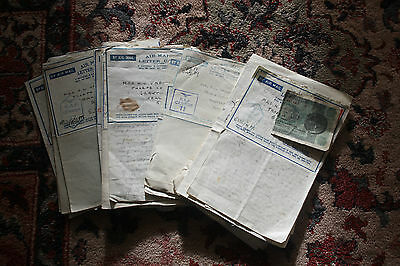 extensive letters from the RAF DESERT CAMPAIGN All to research   x15 letters WW2