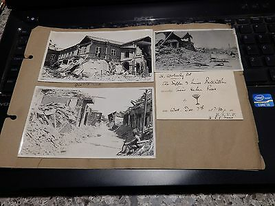 Antique authentic photographs  1935 Quetta earthquake ( بلوچستان زلزلہ‎) on page