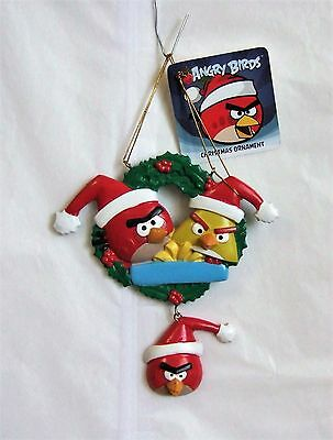Kurt Adler Angry Birds™ Family of 3 Ornament for Personalization 5.75'' Tall