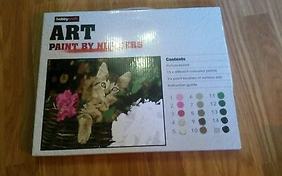 Hobby Craft Kitten Painting By Numbers Brand New