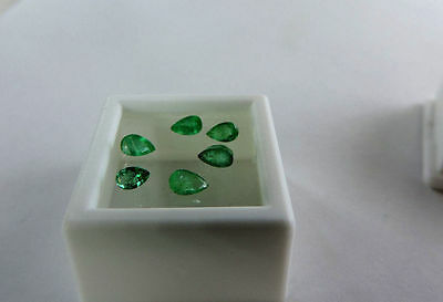 6 piece lot of Natural Colombian Green Emerald. Very nice selection :) 1.20tcw