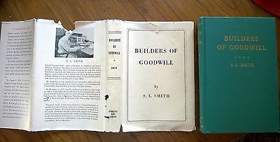 BUILDERS of GOODWILL Samuel L. Smith SIGNED dj 1950 State Agents Negro Education