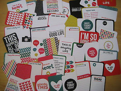 """'confetti' Project Life Cards By Becky Higgins - 3"""" X 4"""" - 50 Cards"""