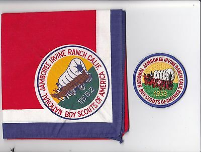 BSA 1953 National Jamboree Neckerchief and patch