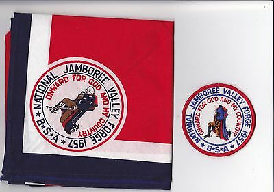 BSA 1957 National Jamboree Neckerchief and patch