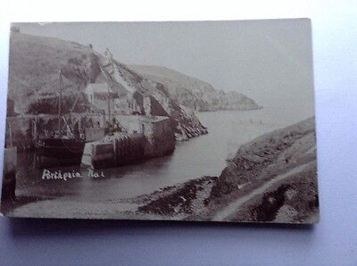 Real Photographic Postcard Porthgain harbour Chas Edwards Fishguard Goodwick