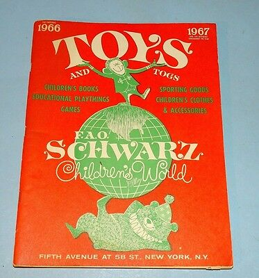Fao Schwartz Christmas Toy Catalog 1966
