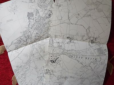 English Aviation History, map cuts of AIRFIELDS (2)  HATFIELD East & West