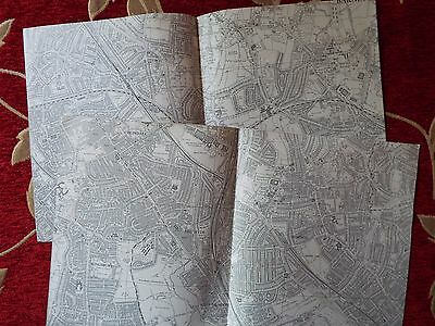 English Aviation History, map cuts of AIRFIELDS  (2) HENDON  North & South