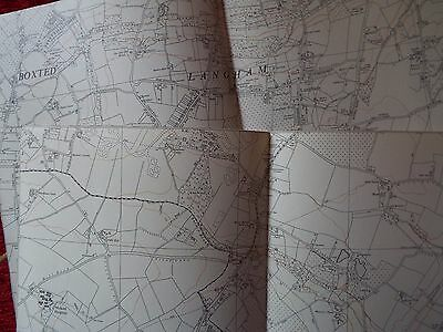 English Aviation History, map cuts of AIRFIELDS  (2) LANGHAM  North & South