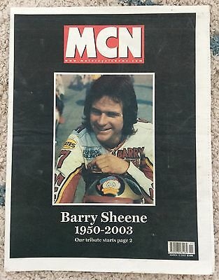 MCN - 12/03/2003 - BARRY SHEENE TRIBUTE Magazine/ Paper