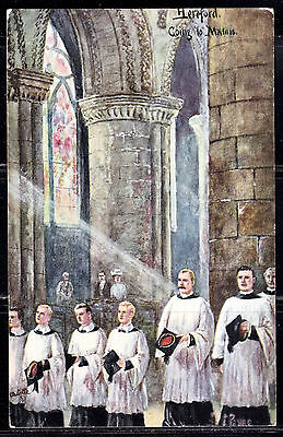 Tuck No. 9286,  Hereford, Going To Matins, Arthur C. Payne, 1909