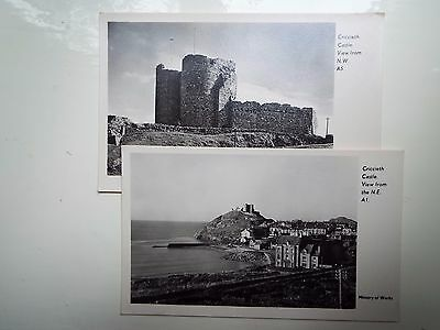 Post cards (2) Ministry Of Works  CRICCIETH CASTLE