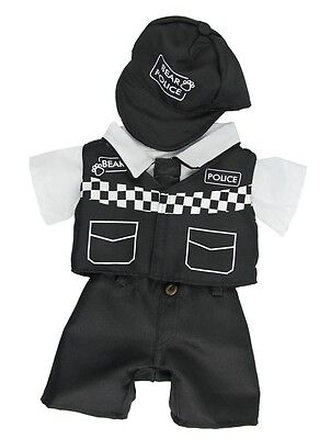 """Bear Police Policeman outfit with hat teddy bear clothes fits 15"""" Build a Bear"""