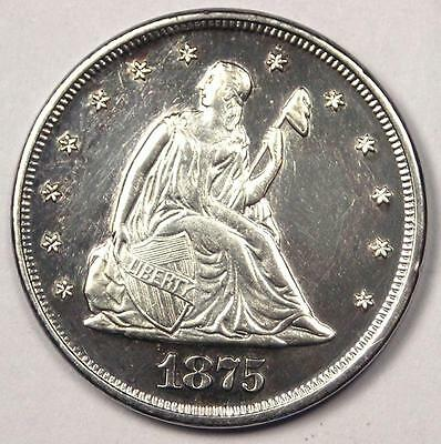 1875-P Seated Liberty Twenty Cent Coin (20C, 1875) - Sharp Details - Rare!