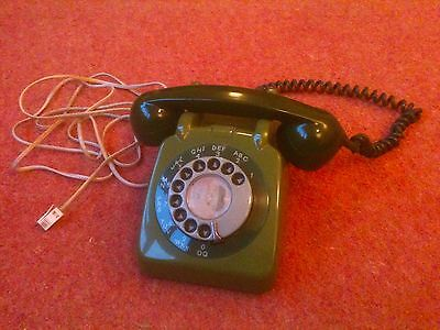 Original GPO Telephone. Green. Good condition and still working.