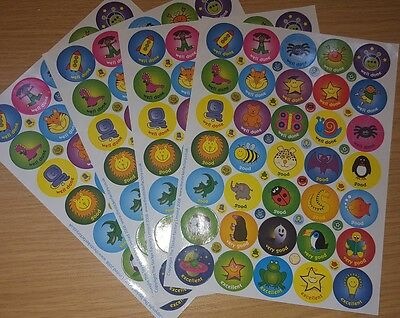 4 A4 Sheets of Reward Stickers 140 Stickers