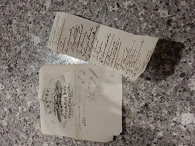 museum qual ephemera Greyhound INN FERRYBRIGE YORKSHIRE 1838 ERA  ACCOUNTx2