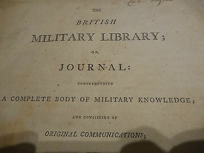 The British Military Library; or Journal: 1799 A DISBOUND DAMAGED COPY