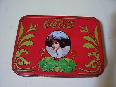 Original Vintage Coca Cola Playing Cards 2 Deck Complete Set in Colorful Tin Box