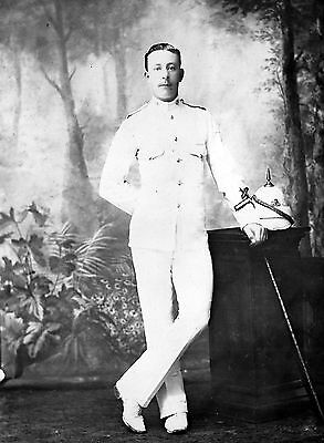 pre WW1 WWI British soldier in dress whites - Cheshire Regiment ?