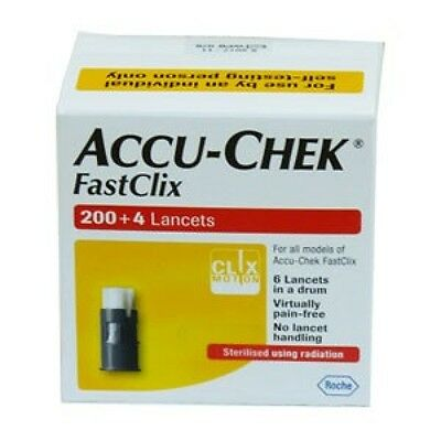 Accu-Chek FastClix  200+4 Lancets New + Sealed