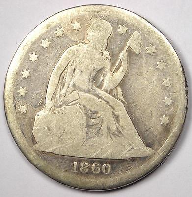 1860-O Seated Liberty Silver Dollar $1 - Good Details - Rare Early Type Coin!