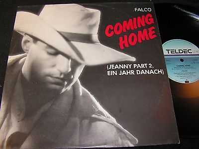 """FALCO Coming Home (Jeanny Part 2) / German 12""""MAXI 1986 TELDEC 6.20670 AE"""