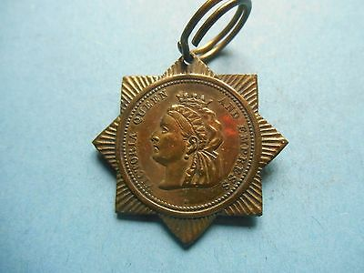 Queen Victoria Jubilee - 1887 - 8 pointed brass medal