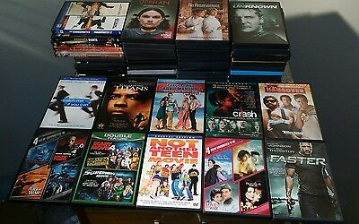 Wholesale Lot of 50 Used DVD Movies Feature Length Mixed Titles Multi-movie Sets