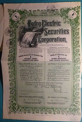 Hydro-Electric Securities Corporation, 1928