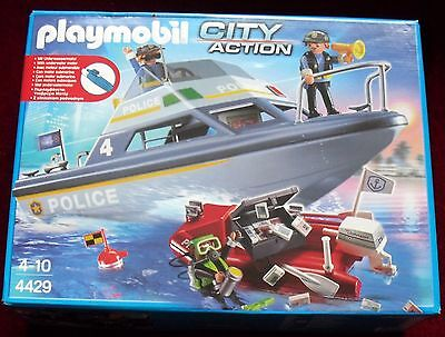 New Playmobil City Action Police Boat Playset Set with underwater motor 4429