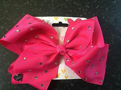 Oversized Large Pink Rhinestone  Bow (lulu) Party Hair Accessory