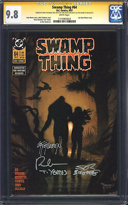 SWAMP THING #64 (Alan Moore) CGC 9.8 SS / Signed Totleben Veitch Yeates Bissette