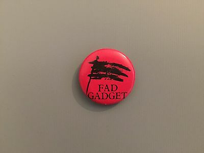 "FAD GADGET Rare 1"" Flag  Vintage 80's Pin Badge Frank Tovey Depeche Mode Mute"