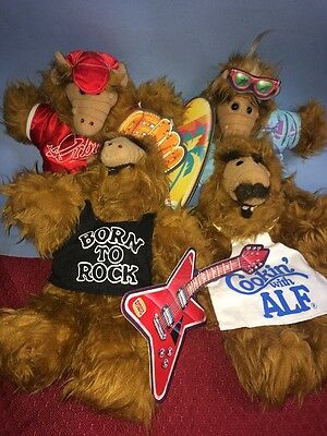 LOT OF 4 VTG 1988 With Tags ALF HAND PUPPET/DOLL BURGER KING