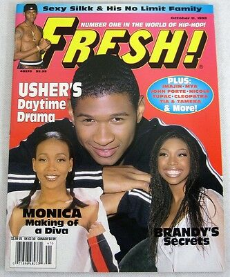 Fresh Hip Hop Music Magazine October 1998 Usher Monica Nate Dogg Nicole No Label
