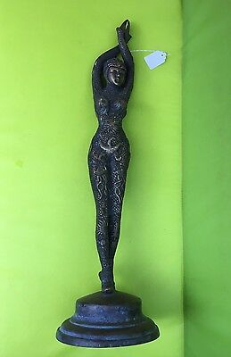 "Starfish Dancer - Demetre Chiparus BRONZE Statue . Very Old Cast 21 1/2"" Tall"