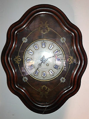 reloj antiguo isabelino de pared